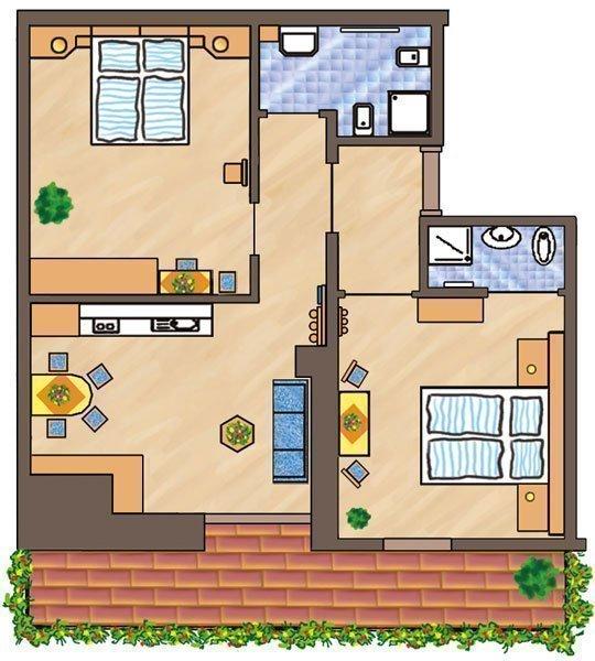 Skizze Wohnung Peitler