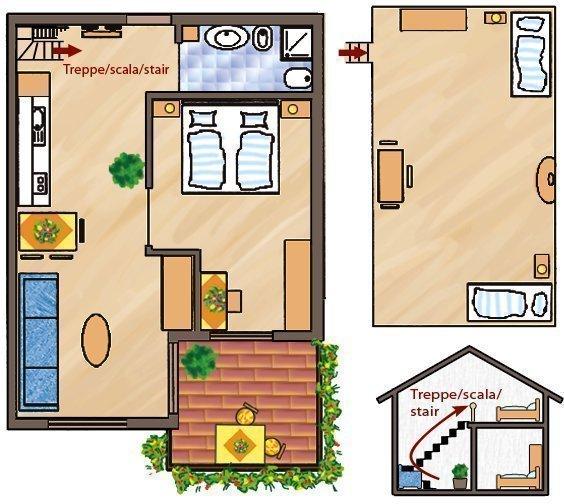 Skizze Wohnung Alpenrose