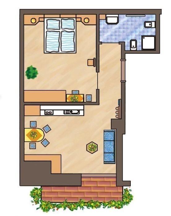 Skizze Wohnung Arnika