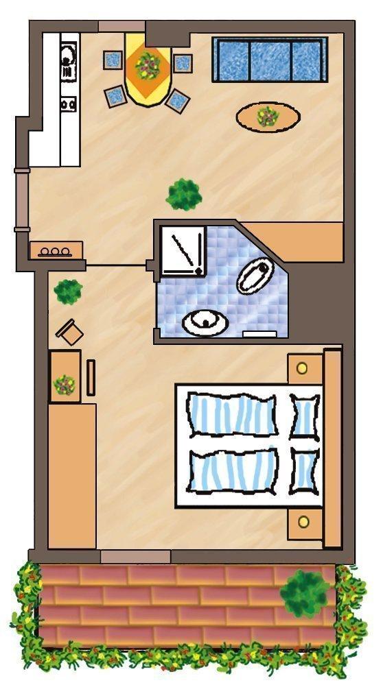 Skizze Wohnung Furchetta