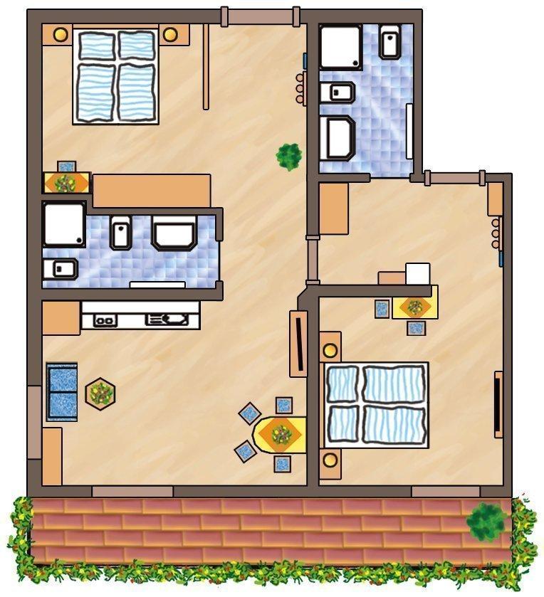 Skizze Wohnung Puez