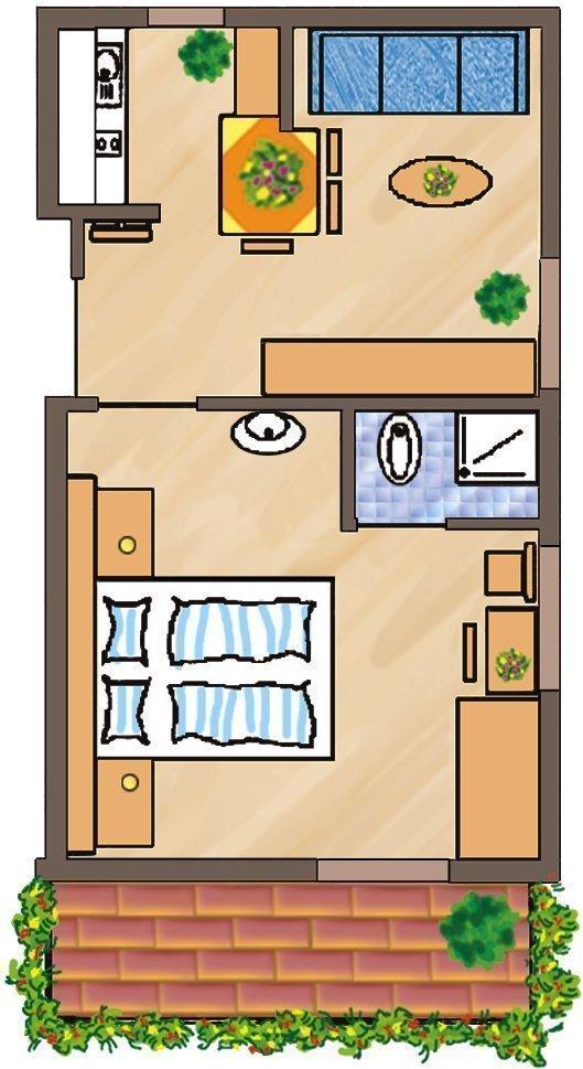 Skizze Wohnung Sass Rigais