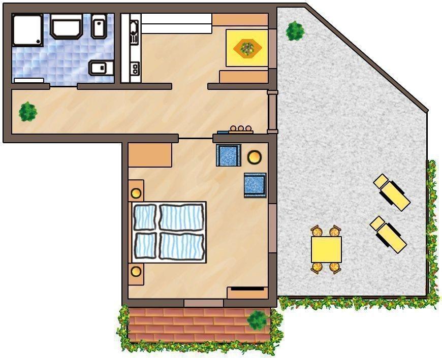 Skizze Wohnung Lilie